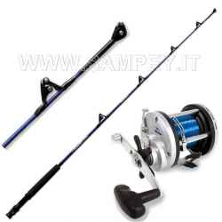 Completo Kit Traina Canna Bluefin 12/30 + Mulinello JD 300  + Filo