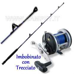 Completo Kit Traina Canna Bluefin 12/30+ Mulinello con Trecciato BT300