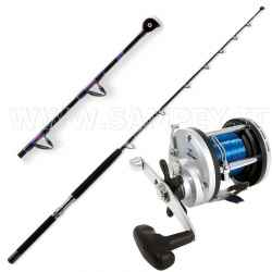 Kit Traina Canna Carbo Troll 8/16 LB + Mulinello JD 300 Filo