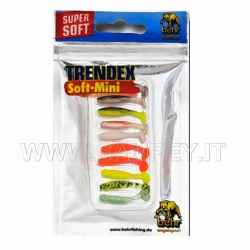 10 Pesciolini Trendex Soft Mini Multi Color Mix 3 cm silicone