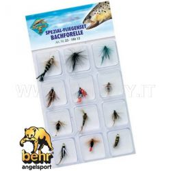 Kit Da 12 Mosche Per Trota Fario Behr Fly Fishing