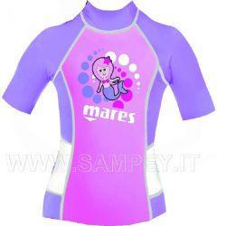 Maglietta Bambina Lycra Rash Guard Mares Manica Corta