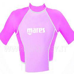 Maglietta Ragazza Lycra Rash Guard Mares Manica Corta