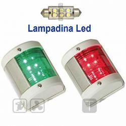2 Luci Fanali Di Navigazione Midi LED Rossa e Verde