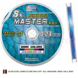 Trecciato Multicolor Asso 8 Capi Jigging Master 0.47 mm 41.60 Kg 94.5 Lbs