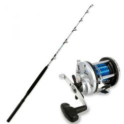 Kit Completo Pesca Traina canna Miami 12/30 libbre + mulinello JD 300 + filo