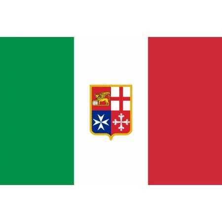 Bandiera Italia Nautica Adesiva Gommata