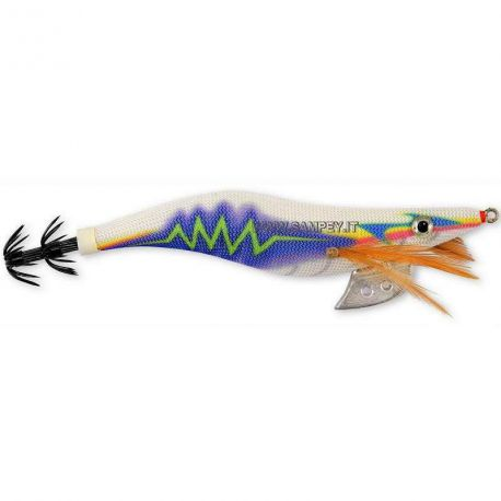 Totanare Tuono Thunder squid jig col. White/blue mis. 3.0 - 3.5
