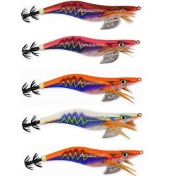 Totanare Tuono Thunder squid jig col. White/blue mis.  3.5