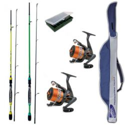 Kt Spinning Freshwater 2 Canne + 2 Mulinelli + Fodero + Scatola + Artificiali
