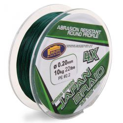 Japan Braid 4X Moss Green Multifibra Trecciato 150 metri
