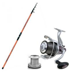 Kit Surfcasting Lineaffe Canna 4.20 mt 250  gr + Mulinello 7000 con 4+1 BB