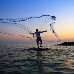 Rezzaglio Da Pesca 16 metri maglia 20 mm Piombi Barilotti