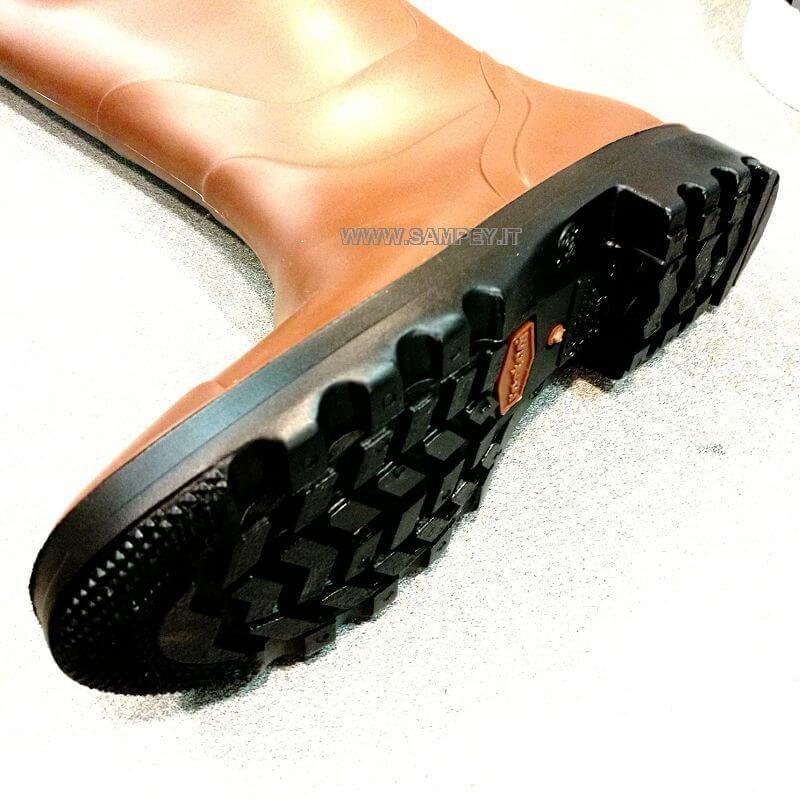 ... Stivali al ginocchio Made in Italy Country Caccia Pesca Marrone foto 2  ... 4b22860a3837