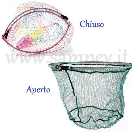 Testa Per Guadino Pesca 55 Cm Richiudibile Pieghevole
