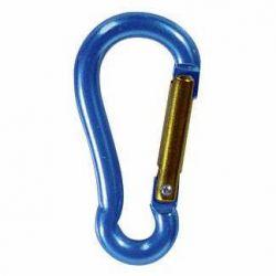 Moschettoni Alluminio Leggeri Nautici Blu