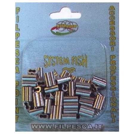 Crimps Sleeves Pesca Doppie Rivette Filpesca 50 pz 2.0 mm