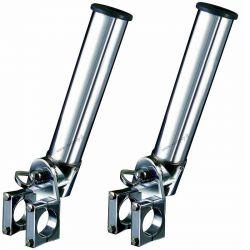 2 Portacanne Per Gommone Rollbar Roll Bar Basculanti Girevoli D 40 mm