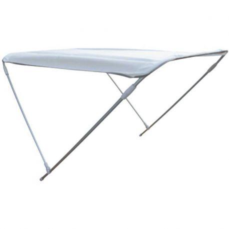 Tendalino Barca Alluminio 150 Cm Capottina Bianca H 110 cm