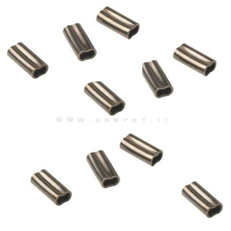 10  Pezzi Copper Sleeves Salvimar Ø 2.3 mm