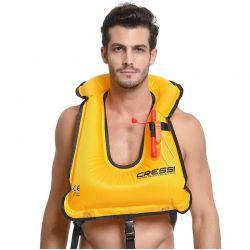 Cressi Snorkel Vest Gilet Gofiabile per Nuoto e Snorkeling
