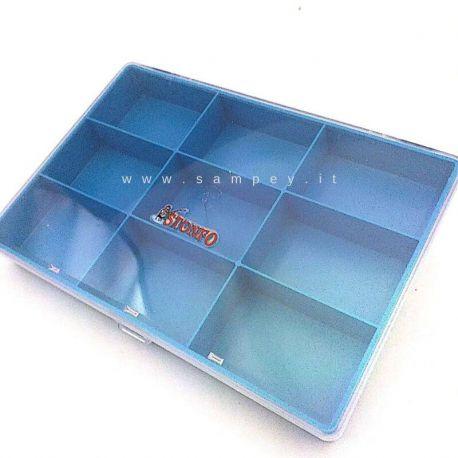 Scatola portaminuteria 9 scomparti Stonfo 10x15 cm
