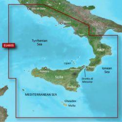 Garmin Bluechart G3 Vision Maps VEU460S-Sicily To Lido Ostia