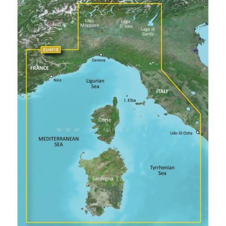 Garmin Bluechart G3 Vision VEU451S Ligurian Corsica Sardinia