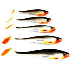 5 Artificiali Behr Silicone Soft Bait Power Flip 9 cm
