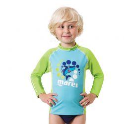 Rash Guard Bambino Manica Lunga Mares Maglietta Lycra Sottomuta