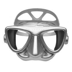 Maschera C4 Carbon Plasma Silver Argento