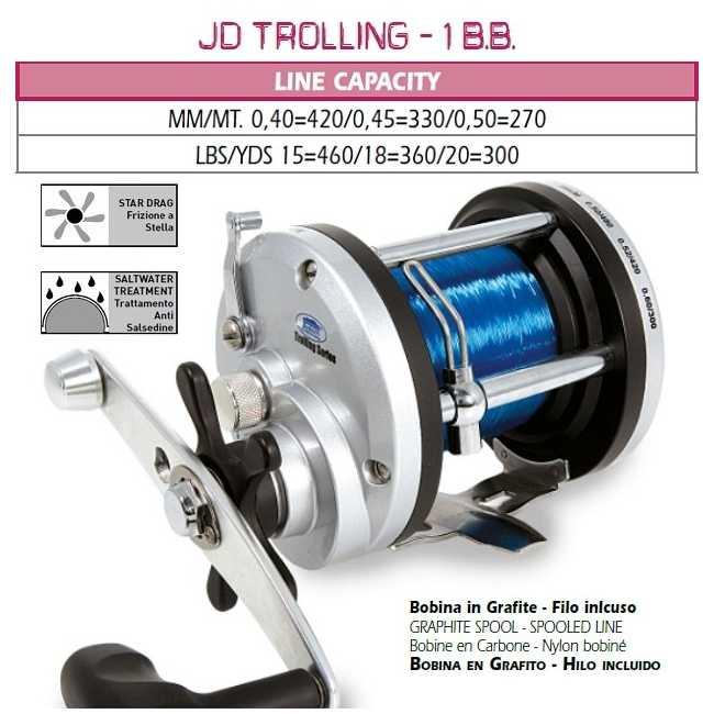 ... Completo Pesca Traina Lineaeffe Malibù + JD300 + artificiale  Kit  Traina Lineaeffe canna Malibù 15 30lbs + mulinello ... f0398d47360c