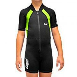 Muta Bambino Shorty Manica Corta Cressi Nera Lime Neoprene 1.5/2mm