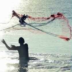 Rezzaglio Pesca 16 metri Panno Maglia 18 mm Piombi Barilotto