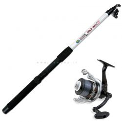 Combo Xtreme Fishing Snake Allround Canna 2,40 Mulinello con Filo
