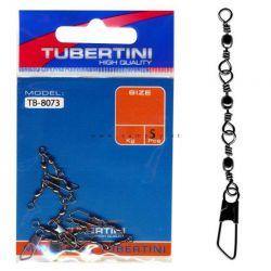 Girelle Pesca Triple Con Moschettone Tubertini TB-8073