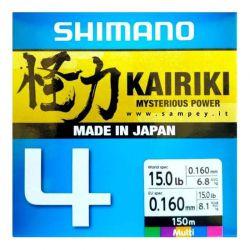 Trecciato Pesca Shimano Kairiki 4 Multicolor 150 metri