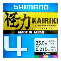 Trecciato Pesca Shimano Kairiki 4 Multicolor 300 metri