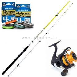Kit Eging Seppie Calamari Shimano + Deep Walker Squid  +  Kairiki