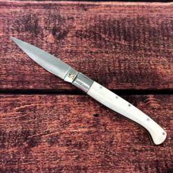 Coltello Mascu tipo Pattada lunghezza 22cm lama 10cm Corno Bianco