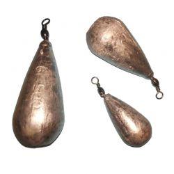 Piombo Pesca Pera con girella ottone da 3 a 500 grammi