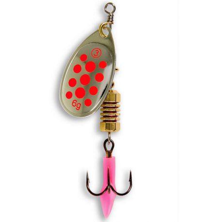 Ondulanti Pesca Trota Lago Cucchiaini Take Mis 2 Spinning Silver Red