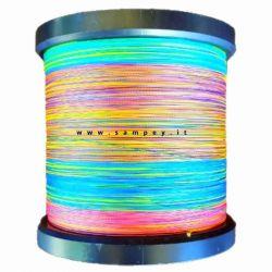 Trecciato Shimano Kairiki 4 Multicolor da 100 a 3000 mt 0.10 mm 6.8 kg