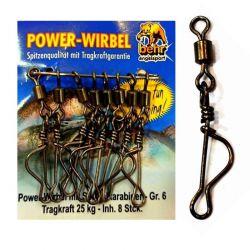 Girella con moschettone Behr Power Wirbel misura 6 - 25 kg