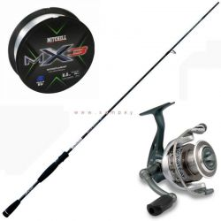 Kit Spinning Light Trout Area Lineaeffe Canna Mulinello Filo