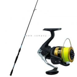 Kit Spinning Canna Lineaeffe 2,40 mt + Mulinello Shimano 4000 + Filo