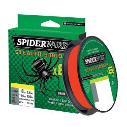 Trecciato SpiderWire Stealth Smooth 8 Fili Rosso bobina 150 mt