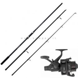 Kit Carpfishing Canna Stalker 3 LBS Mulinello Mitchell Black Edition
