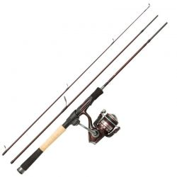 Kit Abu Garcia Tormentor Spinning 2.44 mt Canna Mulinello Trecciato