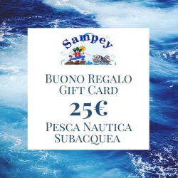 Buono Regalo Gift Card 25€ Pesca Subacquea Nautica